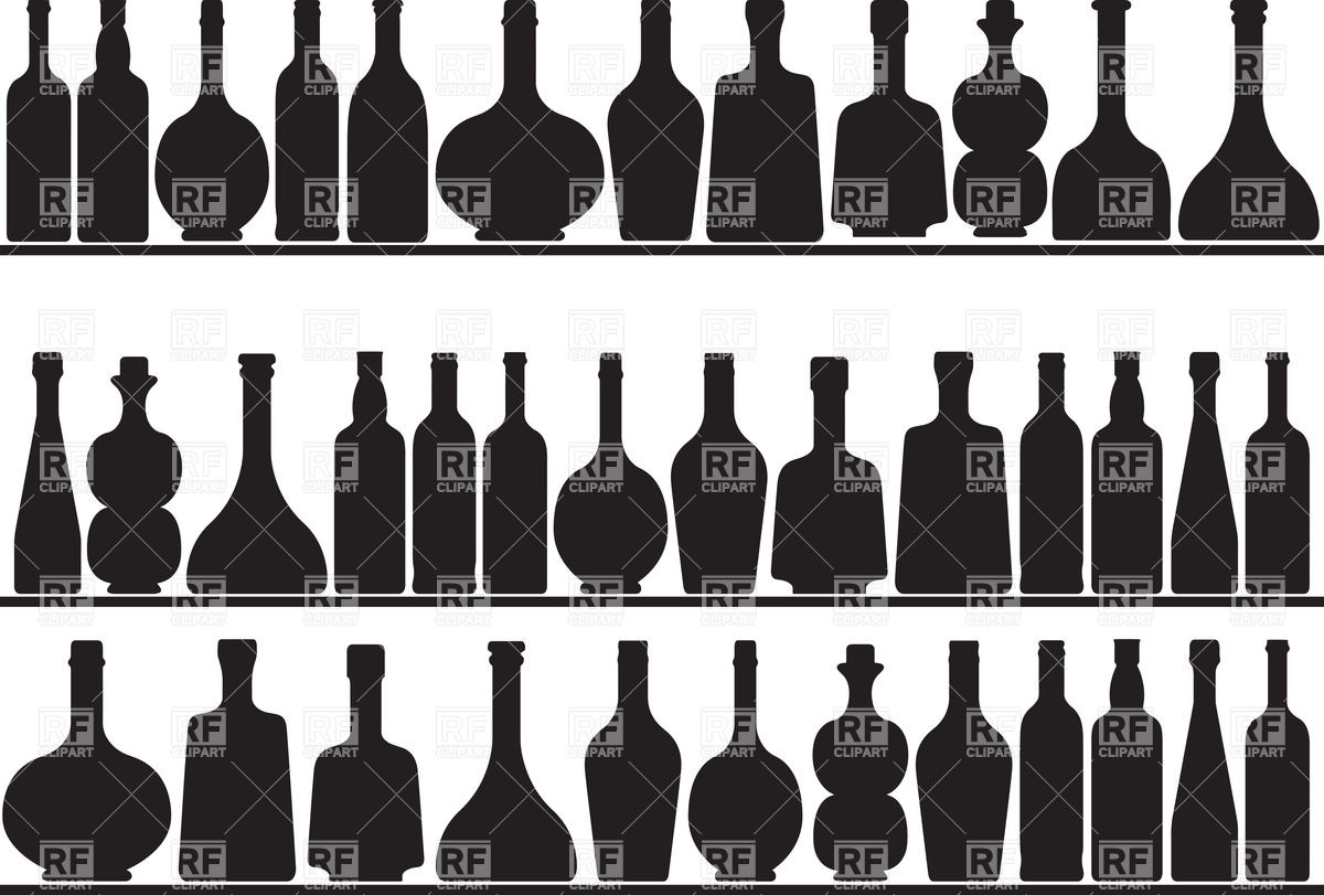 1200x811 Silhouettes Of Bottles