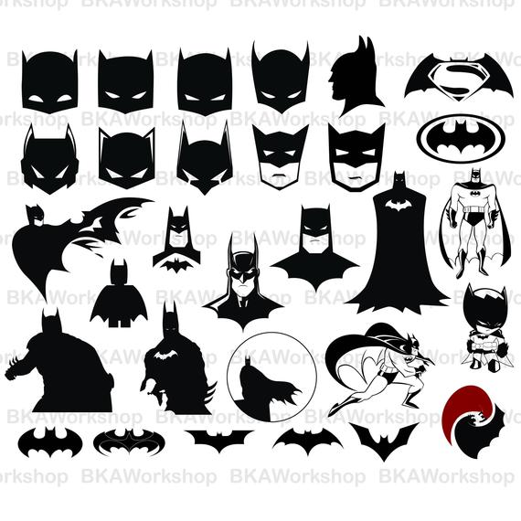 570x570 Batman Svg Batman Silhouette Svg Batman Vector Batman Etsy