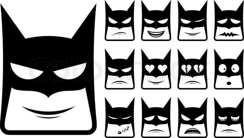 800x455 Vector Icons Of Batman Smiley Faces Stock Vector Colourbox