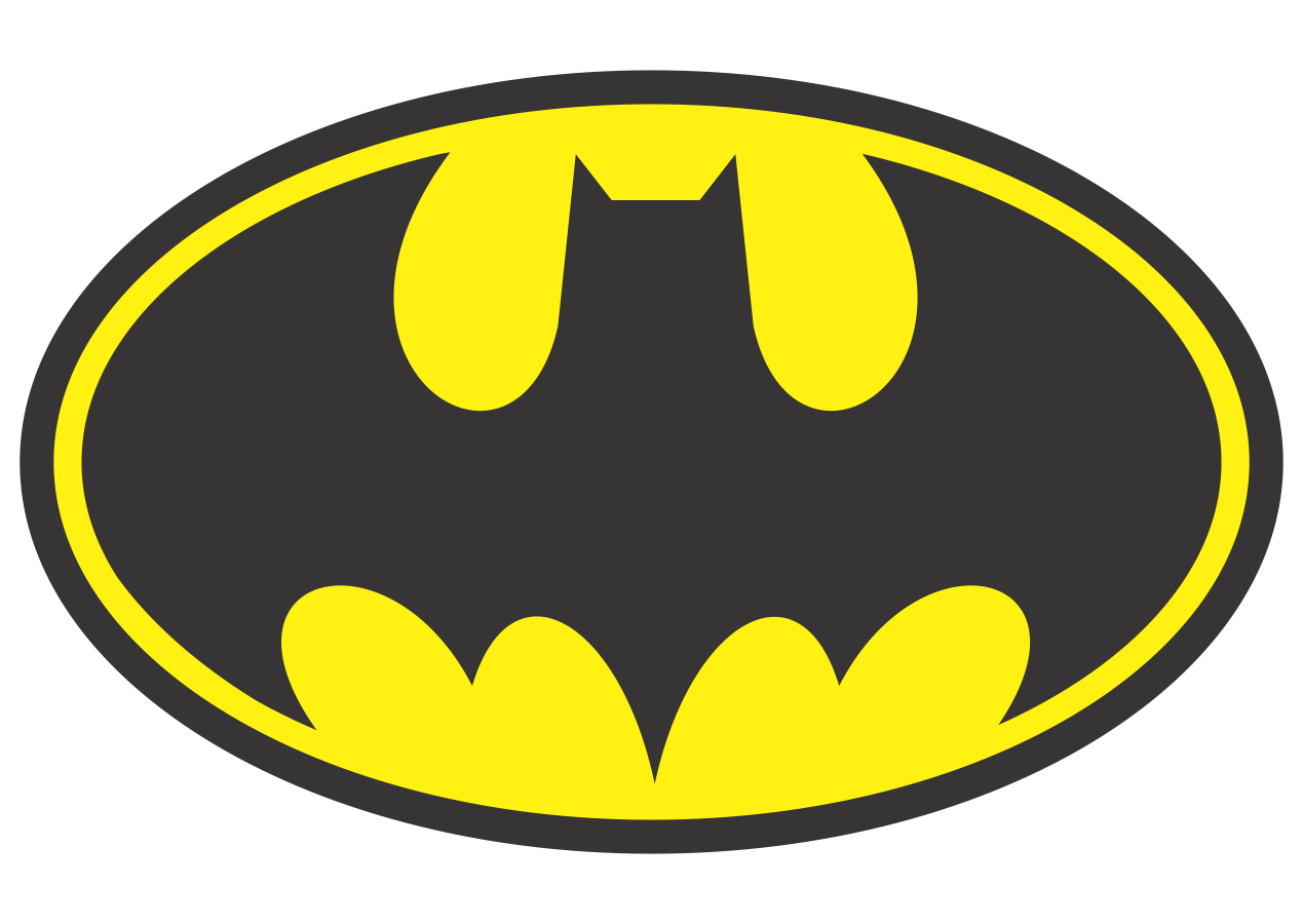 1269x900 Batman Logo Vector