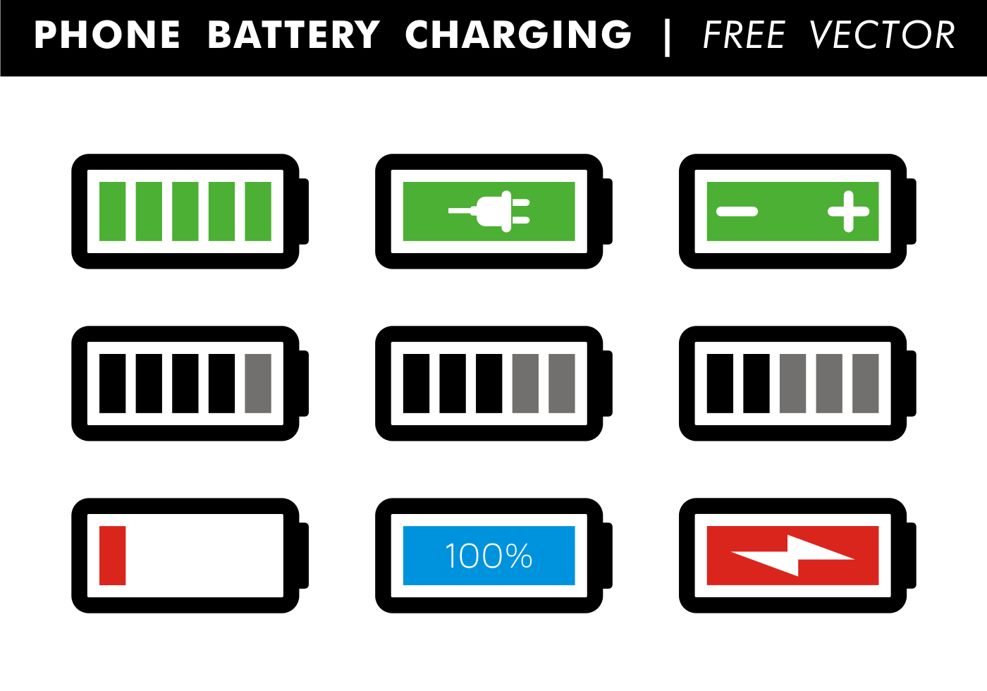 1400x980 Phone Battery Charging Free Vector