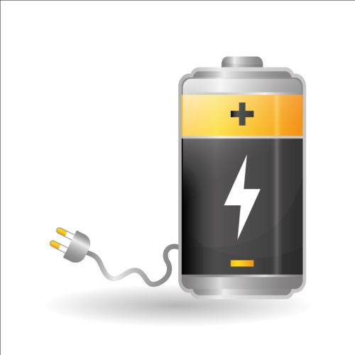 500x500 Vector Battery Charging Icons Design 02 Free Download