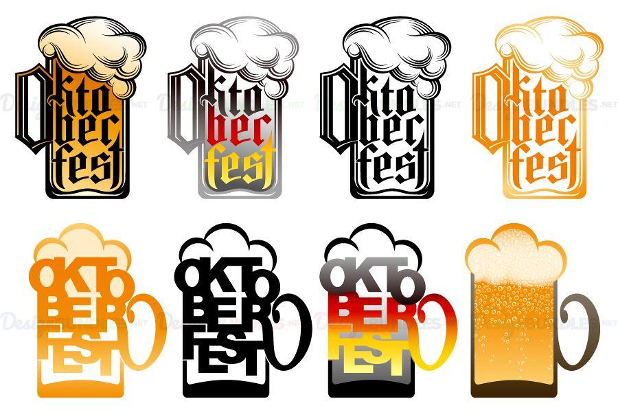 900x600 Vector Beer Glass Oktoberfest Lettering Typography Type Design