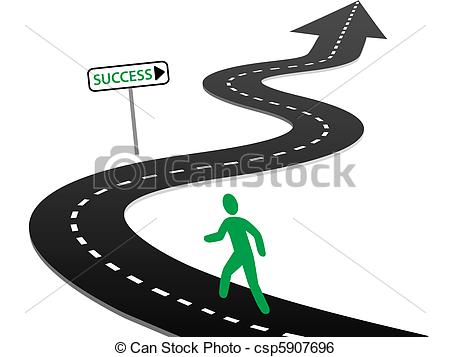 450x357 Initiative Begin Journey Highway Curves To Success. Person With