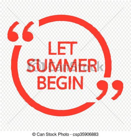 450x470 Let Summer Begin Lettering Illustration Design.