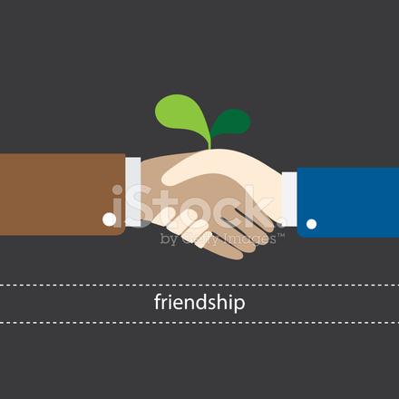 440x440 Shake Hand Is Begin Friendship Vector Illustration Eps10 Stock