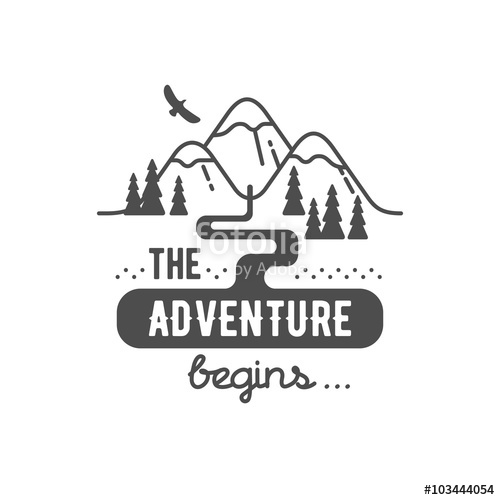 500x500 The Adventure Begin. Element For Greeting Cards, Posters And T