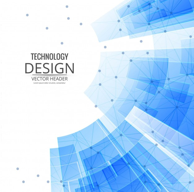 626x618 Ai] Technological Background With Blue Geometric Shapes Vector