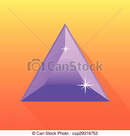 450x470 Amethyst Vector In Orange Bg. Amethyst Vector In Orange Background
