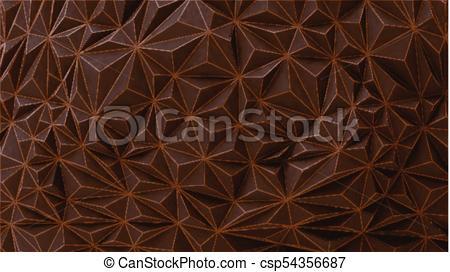 450x272 Brown Chocolate Geometric Wall Vector Bg. Geometric Relief Texture