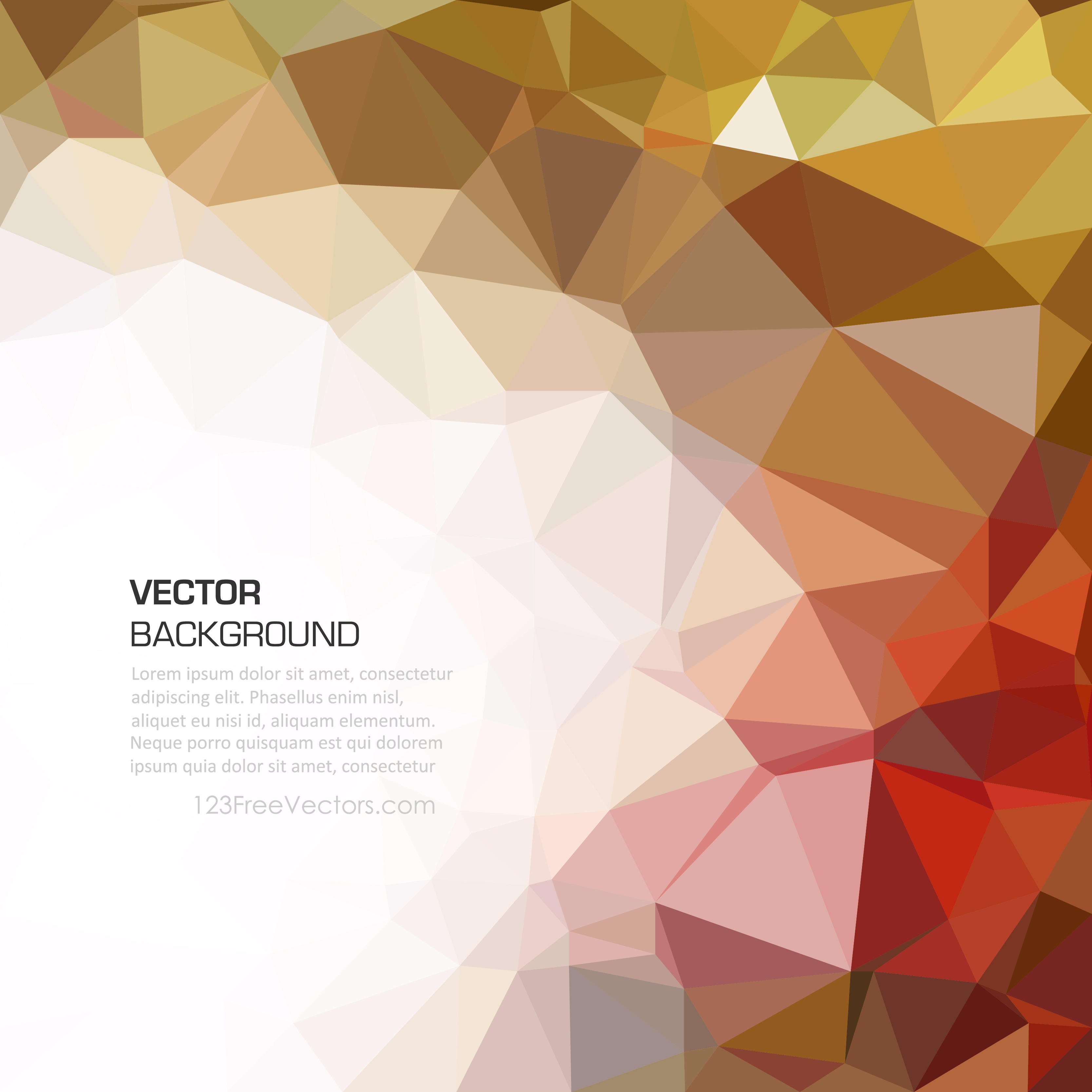 3333x3333 Colorful Abstract Low Poly Background Graphics 123freevectors