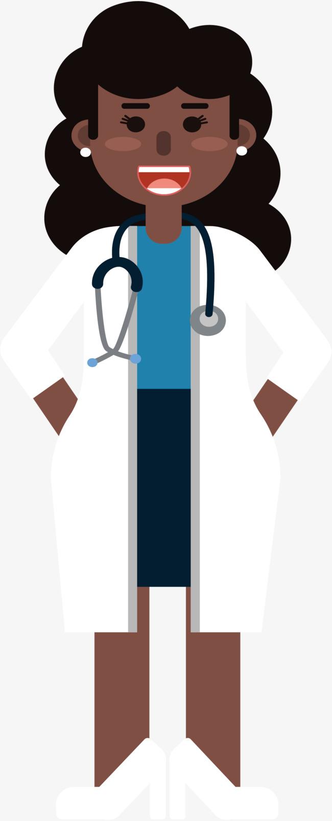 650x1604 Black Woman Doctor, Black Vector, Woman Vector, Doctor Vector Png