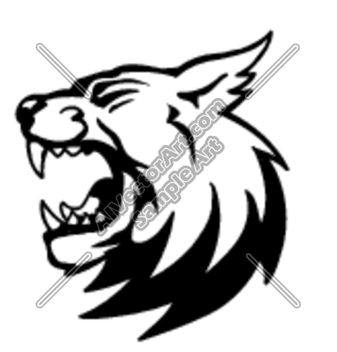 479x500 Bobcat Head Black And White Graphic Clipart And Vectorart Sports