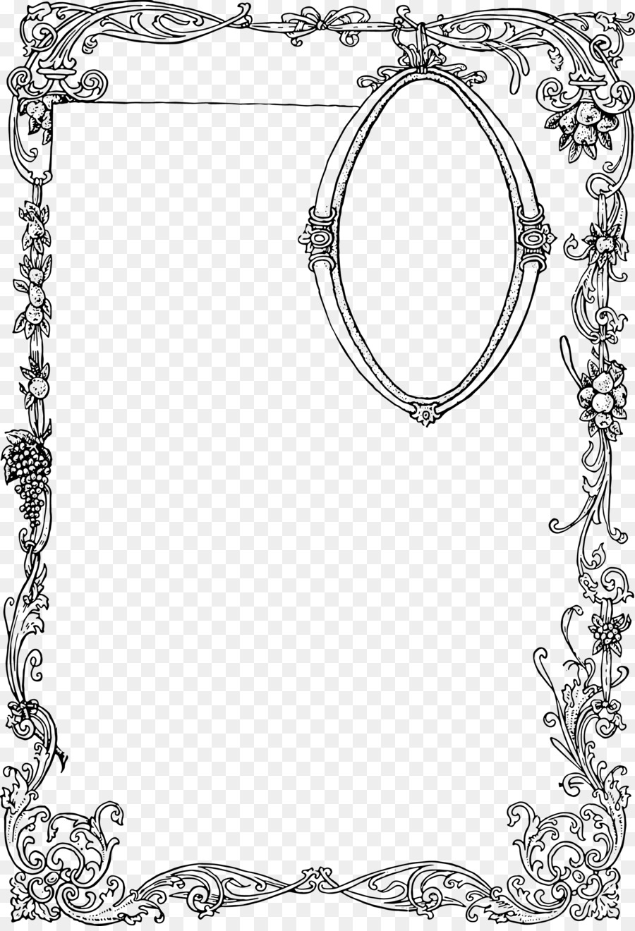 900x1320 Borders And Frames Ornament Picture Frames Clip Art