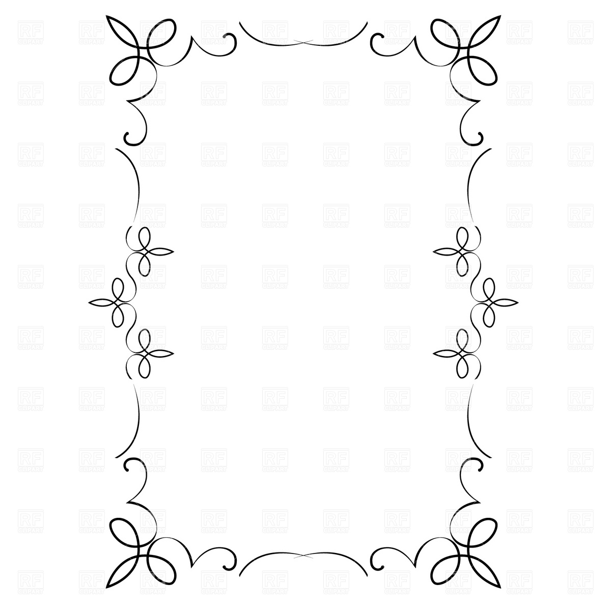 1200x1200 Decorative Frame Vector Image Vector Artwork Of Borders And