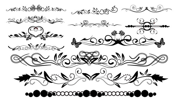 600x346 Massive Collection Of Vintage Vector Graphics Floral Borders