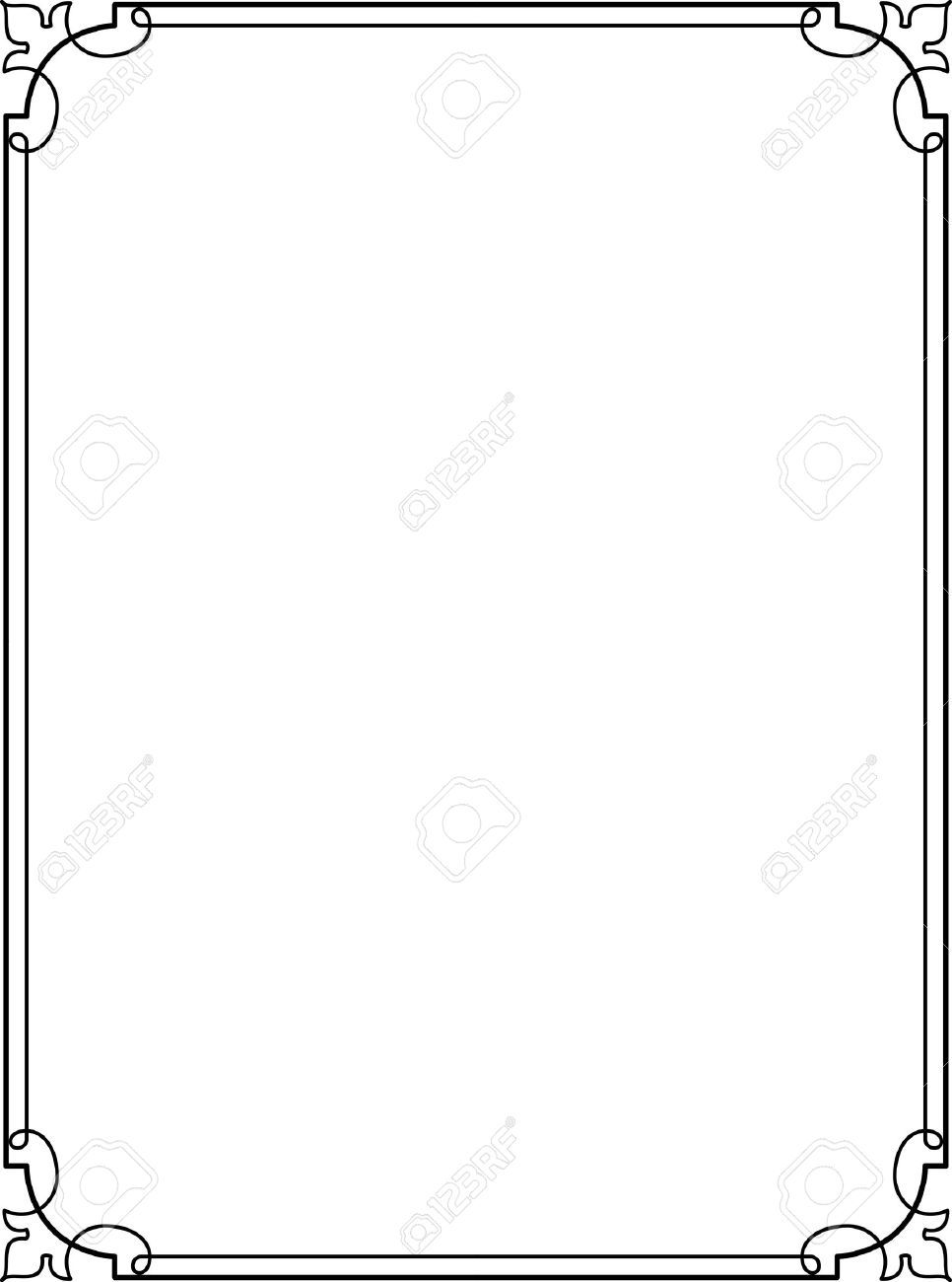 966x1300 Simple Lines, Border Frame, Vector Design In 2018 Designing