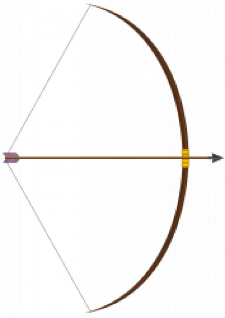 443x626 Bow With Arrow Vector Free Download