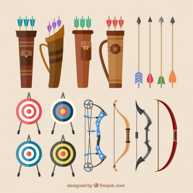 626x626 Bows And Arrows Vector Free Download