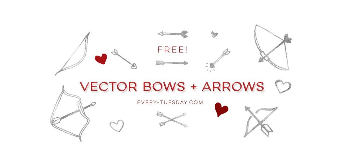 1200x580 Freebie Vector Bows + Arrows