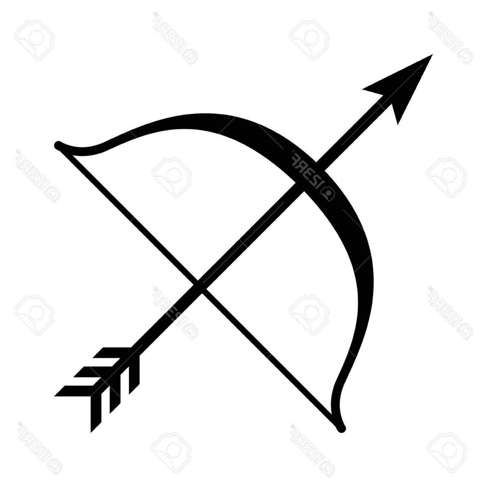1560x1560 Photostock Vector Bow And Arrow Archery Line Art Icon For Games