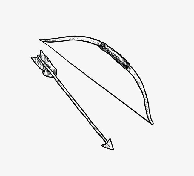 650x588 Vector Black Line Bow And Arrow, Black Vector, Line Vector, Bow