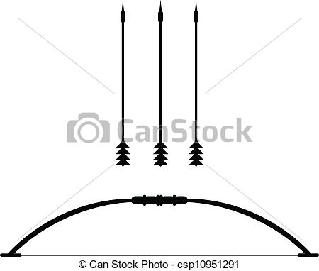 450x382 Vector Bow Weapon With Arrow Vector Clipart Royalty Free. 627