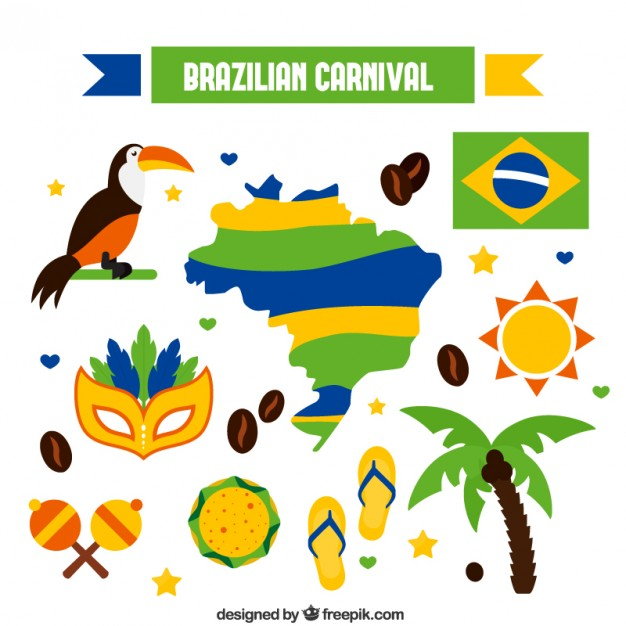 626x626 Brazilian Carnival Elements Vector Free Download