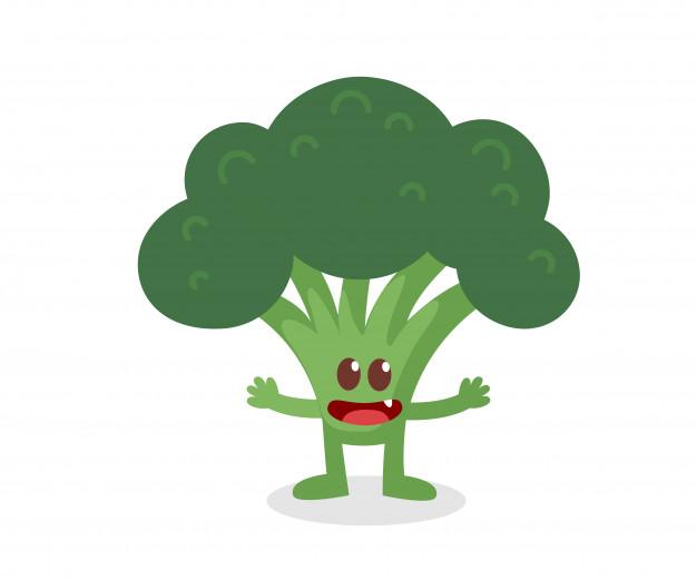 626x521 Broccoli Characters Design. Vector Premium Download
