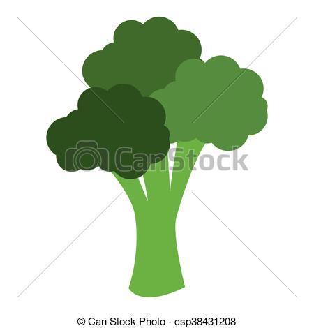 450x470 Flat Design Whole Broccoli Icon Vector Illustration.