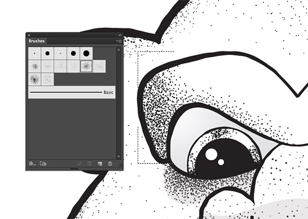 600x426 8 Free Stipple Shading Brushes For Adobe Illustrator