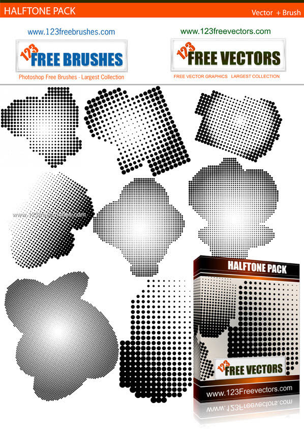 598x844 Halftone Free Vector And Photoshop Brush Pack Photoshop Free