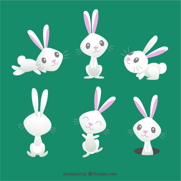626x626 Cute Easter Bunny Vector Free Download