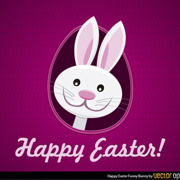 600x600 Free Happy Easter Bunny Vector