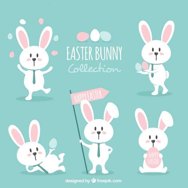626x626 Various Lovely Easter Bunnies Vector Free Download