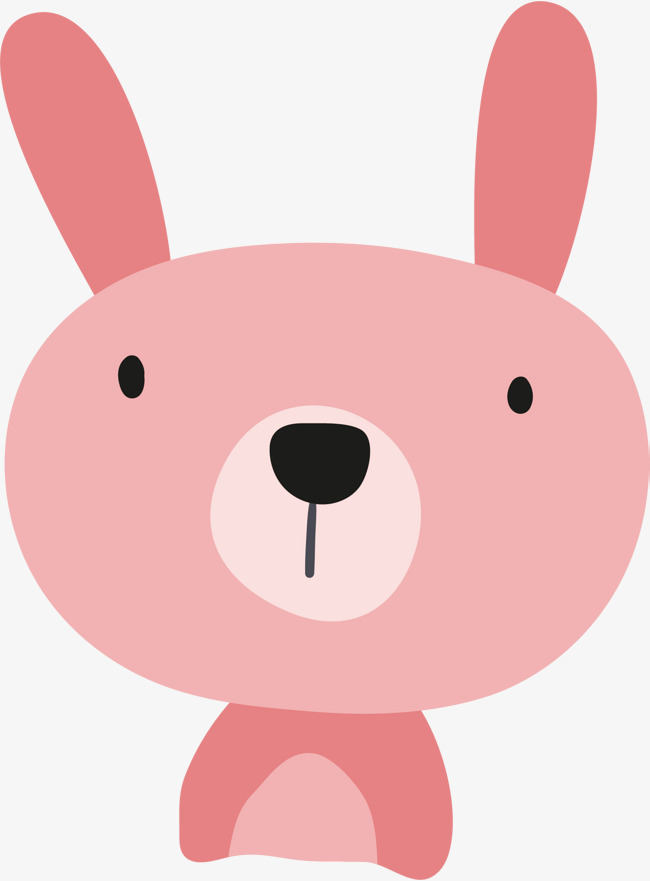 650x881 Vector Hand Painted Cute Little Rabbit, Rabbit Vector, Bunny
