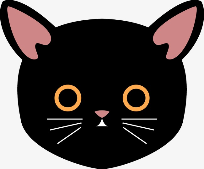 650x540 Cat Head Vector Material, Kitty, Head Portrait, Vector Png And