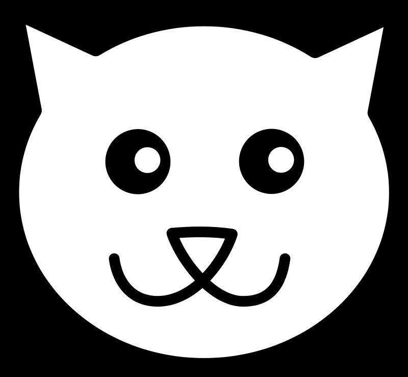 800x739 Cat Line Art Free Vector 4vector