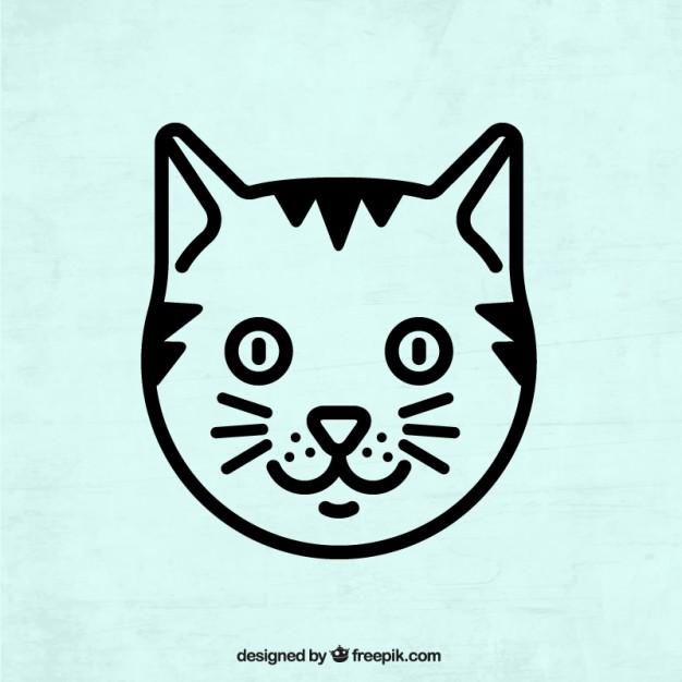 626x626 Cat Head Vector Free Download