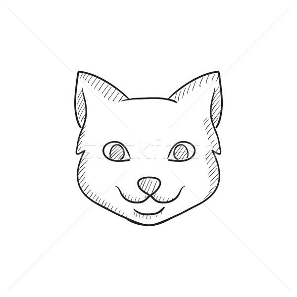 600x600 Cat Head Sketch Icon. Vector Illustration Andrei Krauchuk