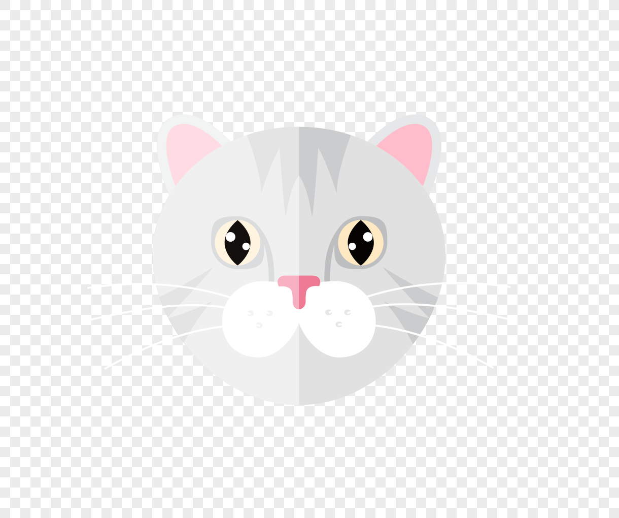 1220x1020 Cat Head Vector Material Png Image Picture Free Download