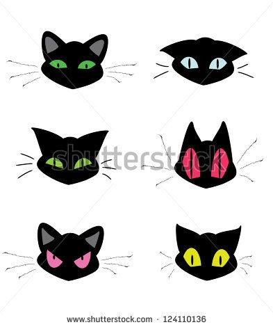 393x470 Stock Vector Set Of Cat Head Icons 124110136.jpg Inci