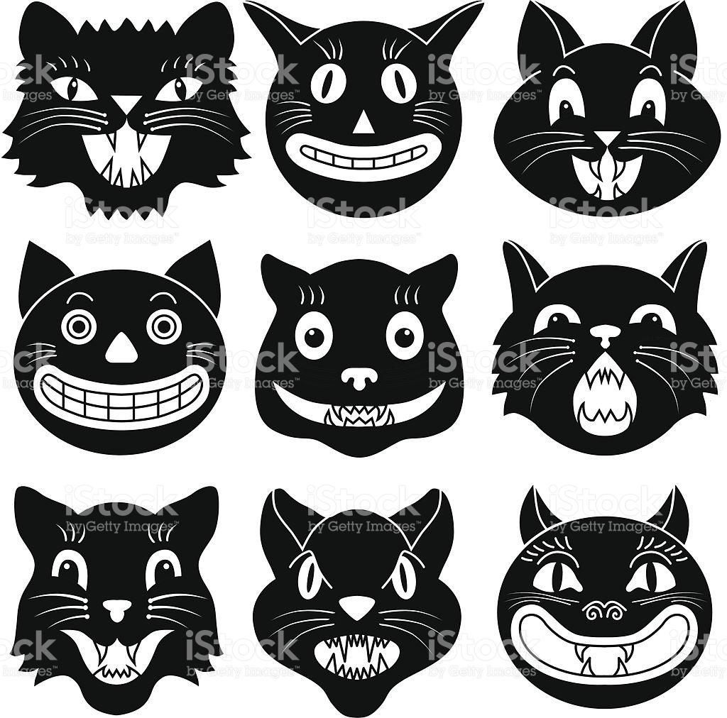 1024x1012 Black Cat Clipart Cat Head