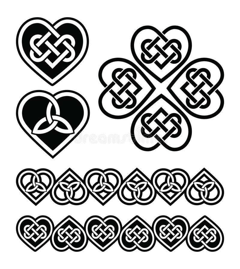 800x896 Celtic Knot Free Vector Celtic Heart Knot Symbols Set Stock