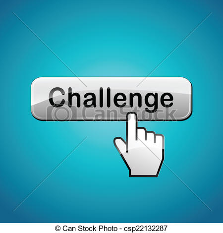 450x470 Vector Challenge Button. Vector Illustration Of Challenge Abstract
