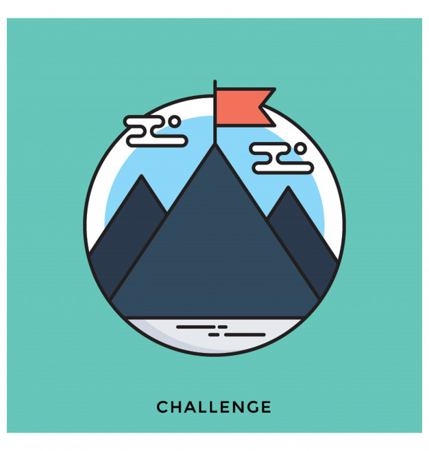 626x658 Challenge Flat Vector Icon Vector Premium Download