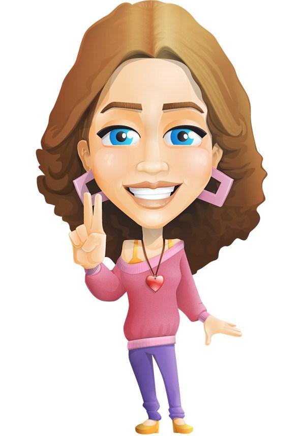 594x855 Girl Vector Character