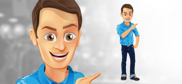 594x274 Male Vector Character With Jeans And Blue Shirt Free Vector In