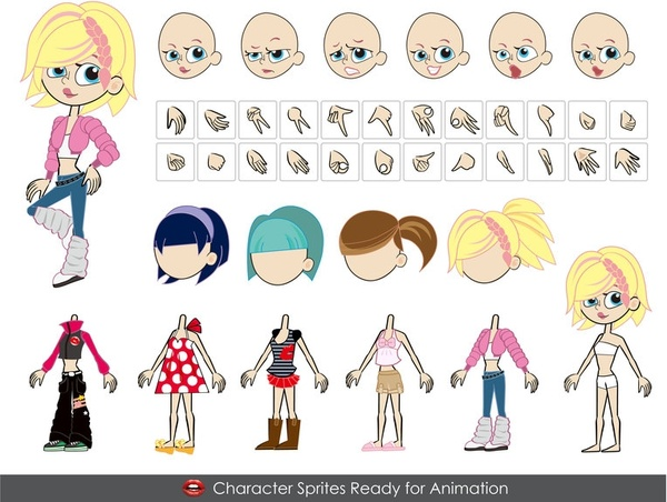 600x452 Female Vector Characters