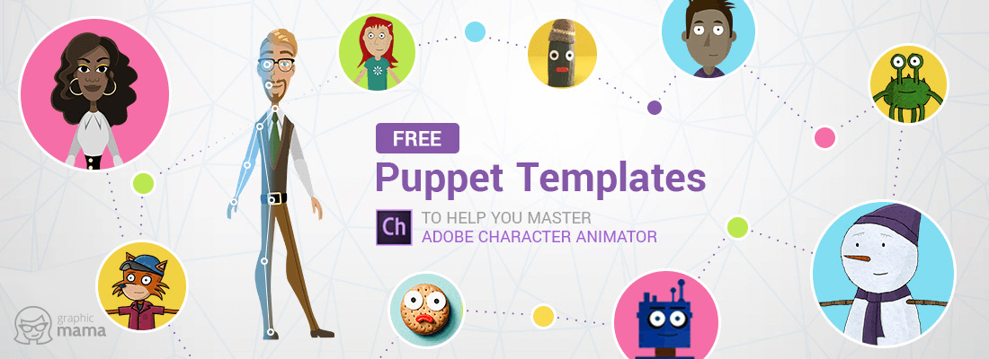 1100x400 31 Free Adobe Puppet Templates To Help You Master Character Animator